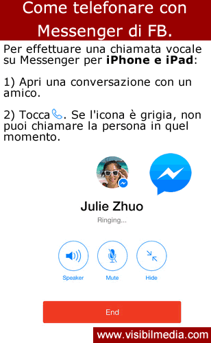 telefonate su messenger fb